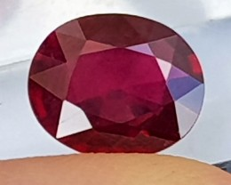 3.62cts,  Ruby, AAA Quality,  Treated