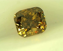 0.28cts  Fancy Deep Brown Green Diamond, 100% Natural Untreated