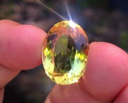 17.25 cts AAA Citrine - Brazil - Top Color - Orange