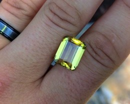 8.95 cts Flawless Citrine - Glowing Golden Orange Color! Brazilian