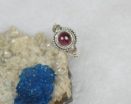 NATURAL UNTREATED GARNET RING 925 STERLING SILVER JE158