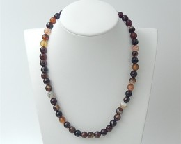 37cm 165ct Special Gift Natural Red Agate Necklace Beads (18061905)