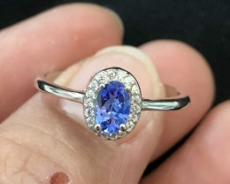Violet Tanzanite 925 Sterling Silver Ring