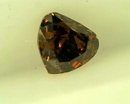 0.19cts  Fancy Dark yellowish greenish Brown Diamond , 100% Natural Untreat