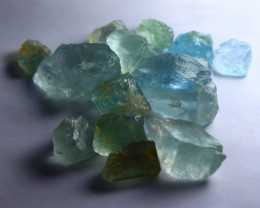 149 CT Natural - Unheated Aquamarine Rough Lot