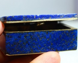 340 CT Natural lapis lazuli Carved Box Stone Special Shape