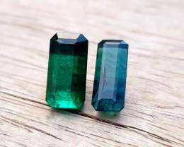 5.40 Ct Natural Green & Blue  SI Tourmaline Pair Gem