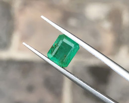 1.10 Ct Natural Greenish Semi Transparent Emerald Gemstones