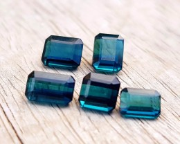 4.50 Ct Natural Dark Blue Tourmaline Ring Sizes Parcel Gemstones