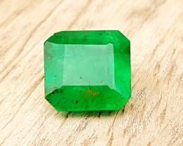 1.00 Ct Natural Dark Greenish Semi Transparent Emerald Pakistan Gemstone