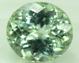 No Reserve - 28.00 cts Round Cut Green Spodumene Gemstone From Afghansitan