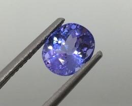 1.63 Carat VVS Gorgeous Blue Tanzanite - Clean - Quality !
