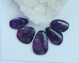 30.5ct 5Pcs Hot Sale Nugget Sugilite Cabochon (18062005)