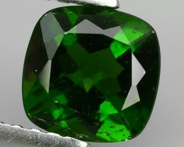 1.10 CTS NATURAL ULTRA RARE CUSHION CHROME GREEN DIOPSIDE RUSSIA