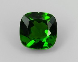 1.00 CTS~NATURAL ULTRA RARE CHROME GREEN DIOPSIDE CUSHION RUSSIA