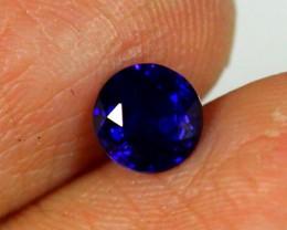 1.37Ct Natural  VVS African Royal Blue Sapphire Gemstone