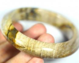 Natural petrified wood bracelet 316.0ct,58.5mm