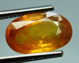 7.19 ct.  Natural Orangey Yellow Sapphire - IGE Certified