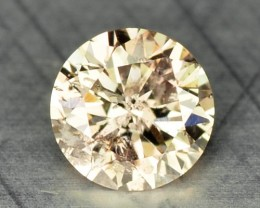0.10 Cts Natural Untreated light Yellow Diamond Round Africa