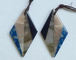 35.5ct Hot Sale Natural Lapis Lazuli .Obsidian .Sun Stone And Labradorite I