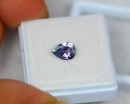 0.90Ct Natural Greenish Violet Blue Tanzanite Pear Cut Lot LZ725