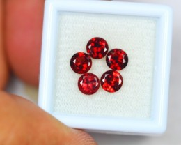 3.14ct Natural Red Garnet Round Cut Lot GW1680