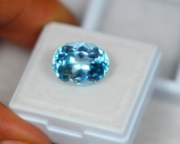 7.77ct Natural Blue Topaz Oval Cut Lot V1626