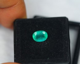 1.17ct Natural Zambia Emerald Oval Cut Lot V1658