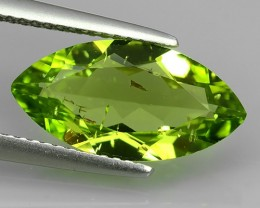 3.95 Cts High Best Natural Apple Green Marqise Pakistan Peridot NR!!!