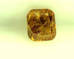 0.30cts  Fancy Deep Orange Diamond , 100% Natural Untreated