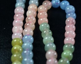 151 CT Natural ~ Unheated Multi Beryl Carved Beads Necklaces Special S