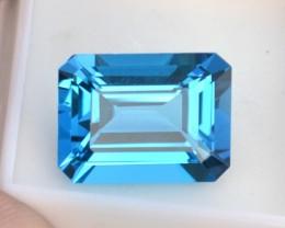 24.63 Carat Fantastic Octagon Cut Swiss Blue Topaz