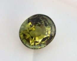 3.10 Carat Very Fine Oval Cut Green Tourmaline