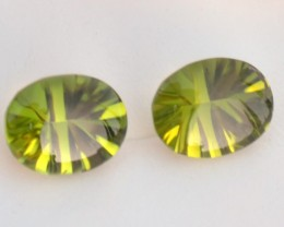 5.47 Carat Matched Pair of Very Fine Buff Top Peridots