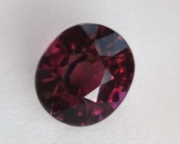 4.37 Carat Oval Cut Certified Wine Red Tourmaline