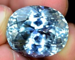 No Reserve - 31.35 Flawless Aqua Color Kunzite Gemstone From AFG (Y)