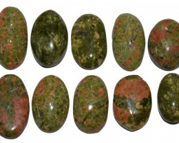 113.65  CT UNAKITE GEMSTONE WHOLESALE LOT (NATURAL+UNTREATED)