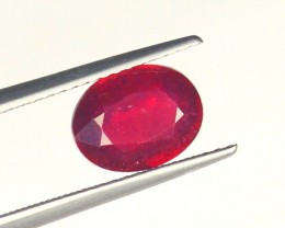 2.76Cts Madagascar Natural Oval Red Ruby Gemstone