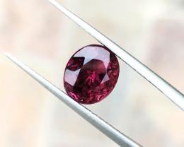 2.00 Ct Natural Reddish Color Semi Transparent Rubellite Tourmaline Gem