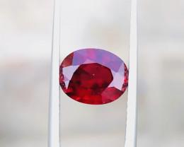 2.80 Ct Natural Blood Red Oval Cut Transparent Rhodolite Garnet Gem