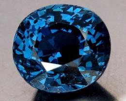 3.15 Carat Vivid, Royal Blue Spinel, RARE Madagascar Origin