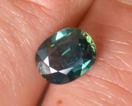 2.02 Carat Nice Oval Cut Deep Blue-Green Sapphire