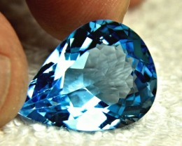 22.72 Ct. Blue Brazilian VVS Topaz - Gorgeous