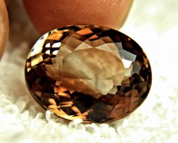 24.08 Carat Brazilian Fancy Bi-Colored VVS1 Topaz - Gorgeous