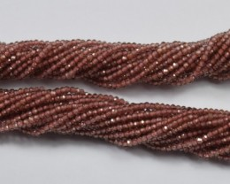 100% NATURAL AUTHENTIC GARNET FACETED RONDELLE BEADS (1 STRAND ONLY)