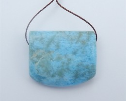 80ct Special Gift Beautiful Natural Larimar Pendant (18062506)