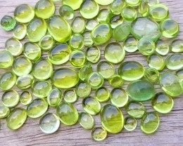 61  Ct Natural Green Small  Peridot Cabochons