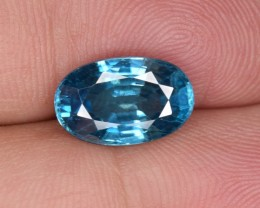 Natural Blue Zircon 5.89 Cts from Combodia