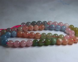 163 CT Natural ~ Unheated Multi Beryl Carved Beads Necklaces Special S