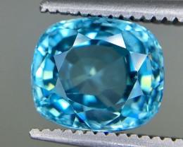 3.15 Crt Blue Zircon  Faceted Gemstone (R 198)